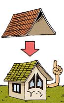 屋根のカバー工法イラスト