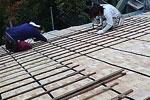 屋根葺替え:葺き替え作業1