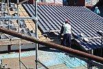 屋根葺替え:葺き替え作業2