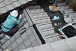 屋根葺替え:葺き替え作業3