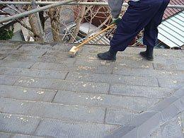屋根表面の洗浄