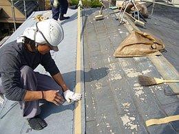 スレート屋根の防水