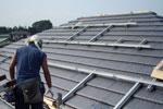 太陽光パネル:施工風景1