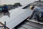 太陽光パネル:施工風景2